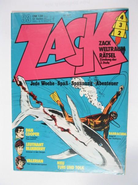 ZACK Comic Nr. 73/33 Koralle Vlg. im Zustand (1-2). 78567
