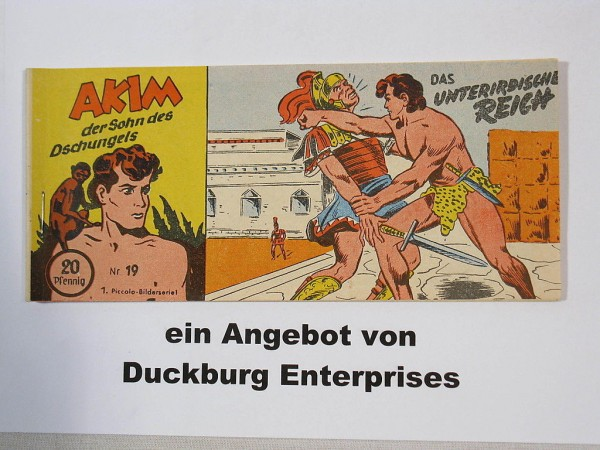 AKIM Sohn des Dschungels Nr. 19 Lehning Verlag im Zustand (1-2) 44516