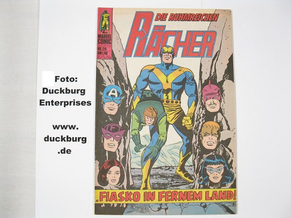 Rächer Nr. 29 Marvel Comic Williams (Z 1) 38810
