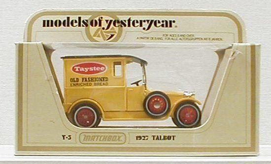 """Matchbox MOY: Y-5 1927 Talbot """"Taystee Bread"""" MIB"""