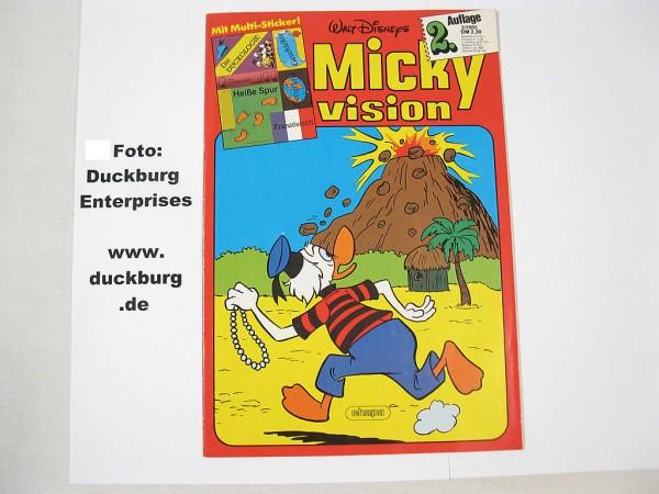Mickyvision Zweitaufl. 85/ 3 Ehapa mit AUFKLEBER 39688