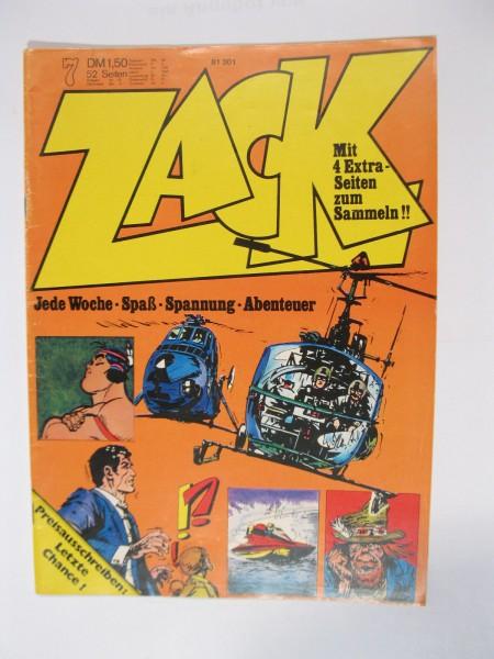 ZACK Comic Nr. 73/ 7 Koralle Vlg. im Zustand (1-2). 78531