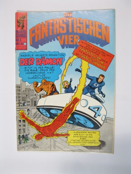 Fantastische Vier Nr. 5 Marvel Williams im Zustand (1-2) 56692