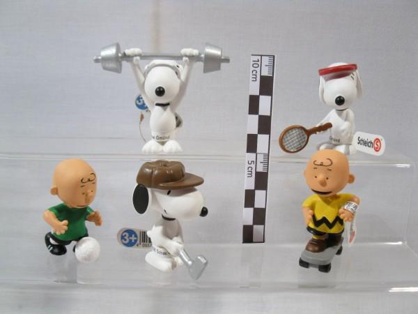 Peanuts Snoopy Charlie Brown Sportler 5 Figuren Schleich 2018