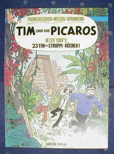 TIM und STRUPPI / Picaros Carlsen Werbeplakat