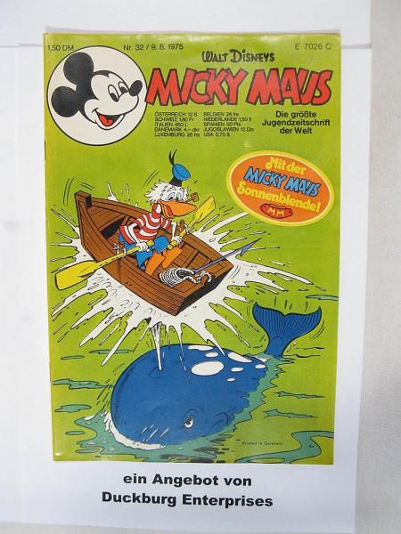 Micky Maus 1975/32 Originalheft vom 9.8.1975 im Zustand (1-2) 44590