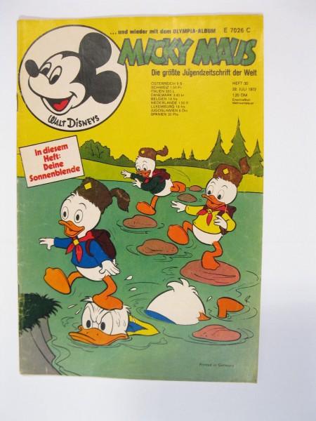 Micky Maus 1972/30 Originalheft vom 22.7.1972 in Z (2 oS) 51654