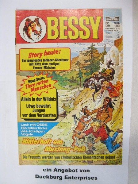 Bessy Comic-Heft Nr.934 Bastei Verlag im Zustand (1) 48783