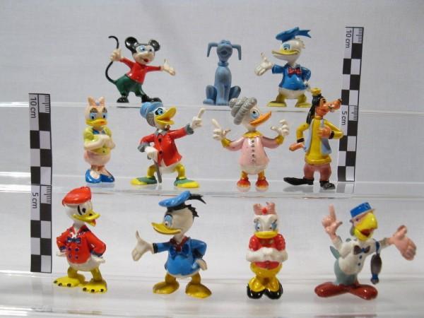 Disney 11 Figuren Fa Heimo Donald Micky Dagobert Goofy Oma 70er80er J 60163