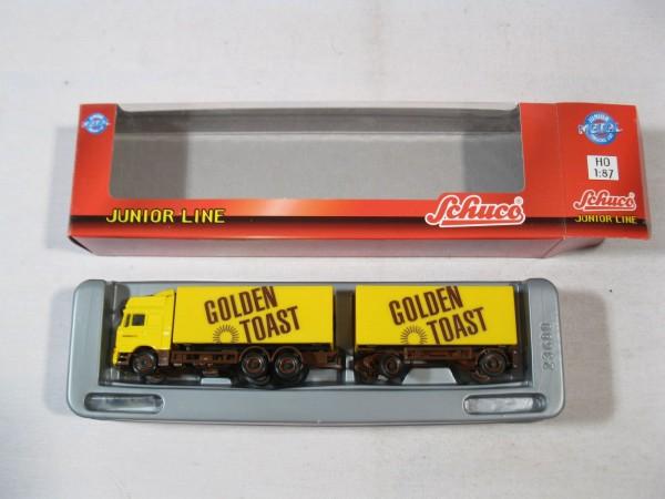 Schuco 26901 MAN Kofferhängerzug Golden Toast in OVP - H521