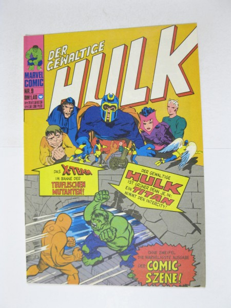 Hulk Nr. 9 Marvel Comic Williams im Z (1). 124281