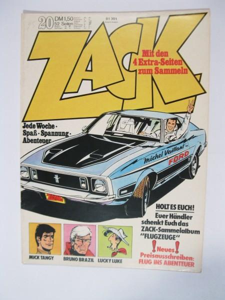 ZACK Comic Nr. 73/20 Koralle Vlg. im Zustand (1/1-2). 78549