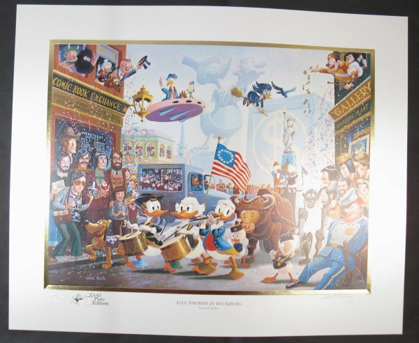 "Barks Lithographie ""4th of July in Duckburg"" signiert"