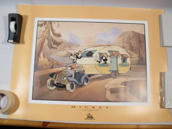 Poster Kunstdruck: Micky und Goofy im Trailer Demons + Merveilles 72868