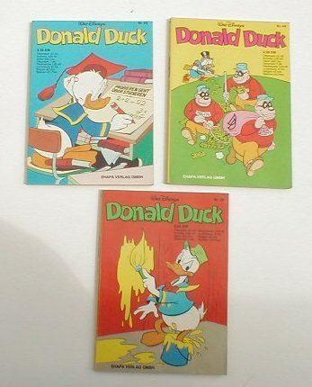 3x Donald Duck TB 42 + 43 + 44 ERSTAUFL. Ehapa 9793 D