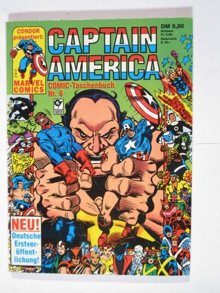 Captain America Nr. 6 Marvel Condor Taschenbuch im Z (0-1). 80703