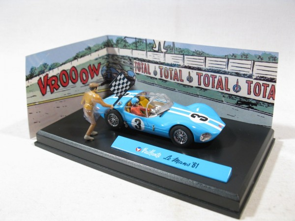 Michel Vaillant Auto Le Mans 61 Metall Diorama 1:43 85285