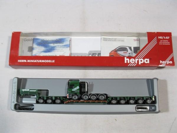 Herpa 146487 Mercedes Benz Actros Tieflade Sattelzug Kübler in OVP - H517