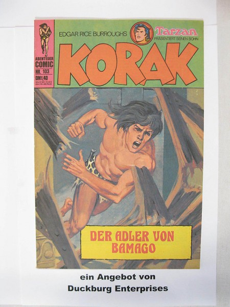 Korak, Tarzan Sohn Nr. 103 BSV Verlag im Zustand (1-2) 43530