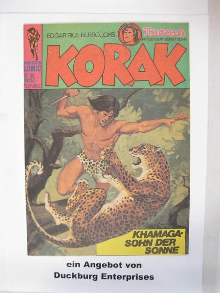 Korak, Tarzan Sohn Nr. 95 BSV Verlag im Zustand (1-2) 43523