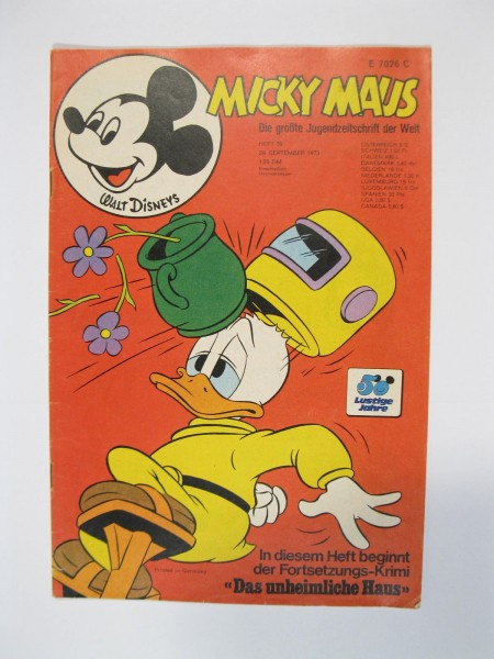 Micky Maus 1973/39 Originalheft vom 29.9.1973 in Z (1-2 oS) 51669