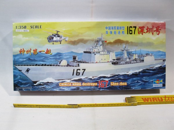 Trumpeter 04513 Chinese destroyer 167 shen zhen 1:350 box ist sealed !! mb153