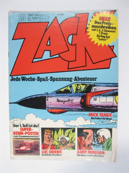 ZACK Comic Nr. 73/15 Koralle Vlg. im Zustand (1-2). 78541
