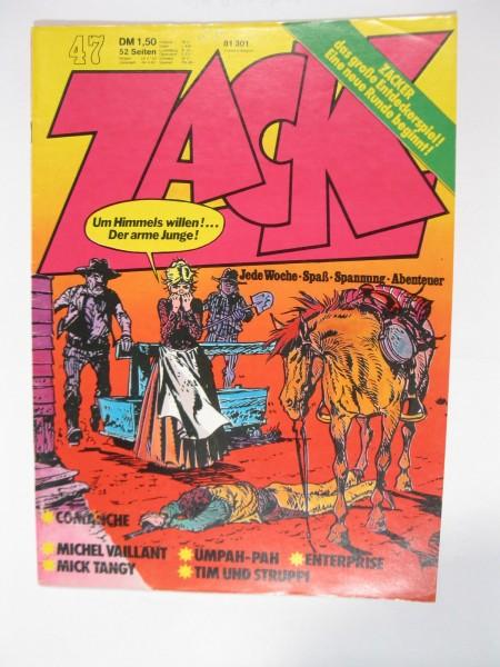 ZACK Comic Nr. 73/47 Koralle Vlg. im Zustand (1-2). 78573