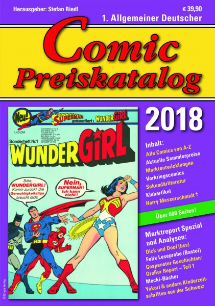 Comic Preiskatalog 2018 HC gebraucht für Micky Maus, Sigurd, Nick, Superman...