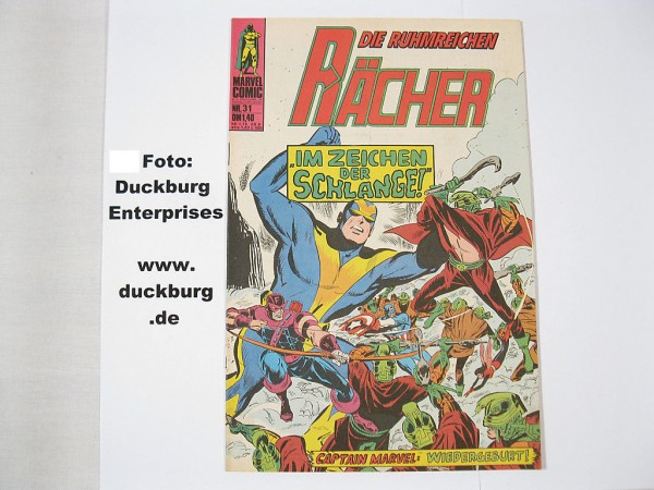 Rächer Nr. 31 Marvel Comic Williams (Z 1) 38815