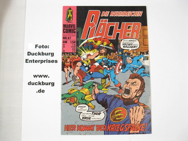 Rächer Nr. 97 Marvel Comic Williams (Z 1) 38873