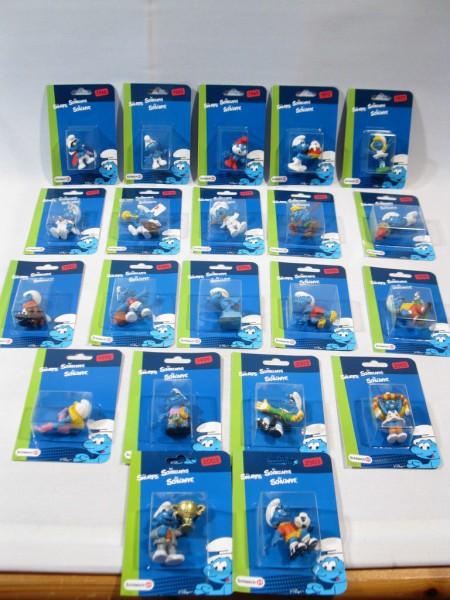 22 Schlümpfe auf Blister Karten Schleich Sonderauflage smurf smurfs 60255