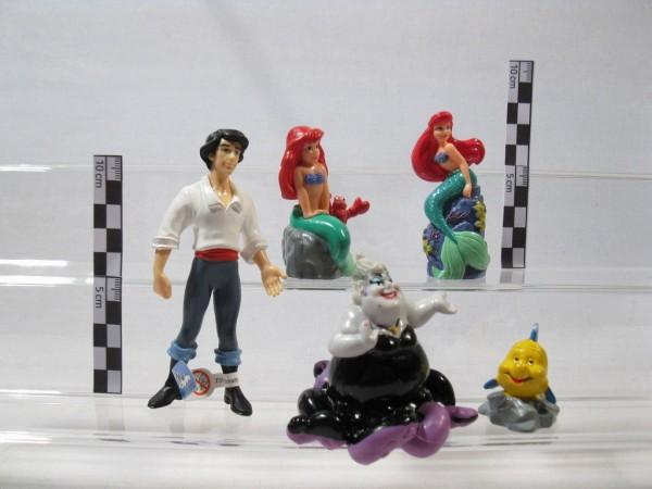 Arielle 5 Figuren Erik, Flounder, Ursula von verschiedenen Herstellern 60013