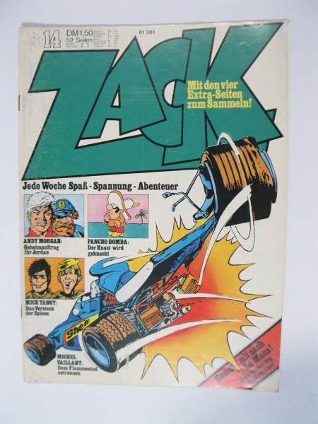 ZACK Comic Nr. 73/14 Koralle Vlg. im Zustand (1-2). 78539