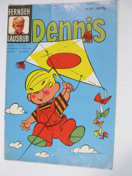 Fernseh Lausbub Dennis Nr. 34 Tessloff Verlag im Zustand (2 NZ). 95877
