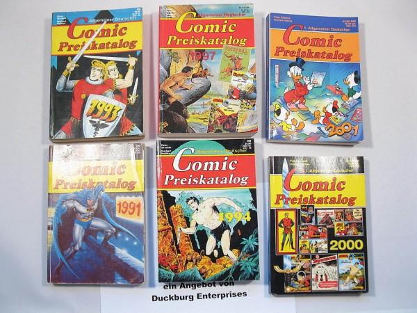 6x Comic Preiskataloge ab 1991 Hethke Verlag 45495-7 Sigurd Nick Falk Micky